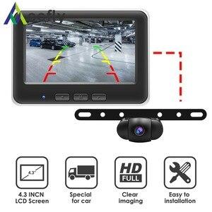 Image 2 - Accfly سيارة لاسلكية Dvr كاميرا الرؤية الخلفية النسخ الاحتياطي وقوف السيارات لوحة كام مع 4.3 بوصة TFT شاشات كريستال بلورية لسيارات الدفع الرباعي