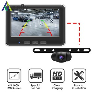 Image 2 - Accfly Wireless Car Dvr Rear View Camera Backup Parking Plate Cam with 4.3 Inch TFT Lcd Monitor for SUV