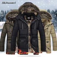 2017 Autumn Winter Warm Fur Hoodies Jacket Men High Quality Outwear Brand Coat Patchwork Solid Casual