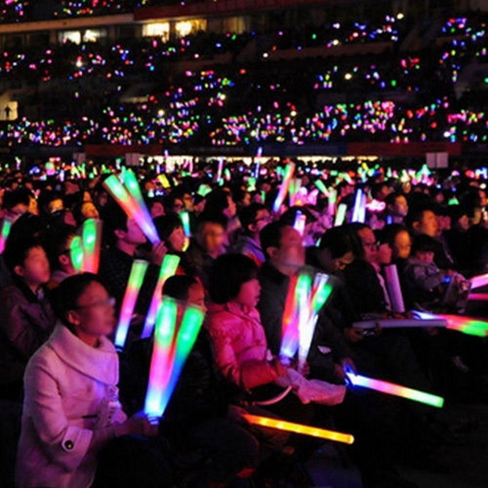 100 PCS Light Up Foam Sticks Glow Party LED Flashings Vocal Concert Reuseable Hot