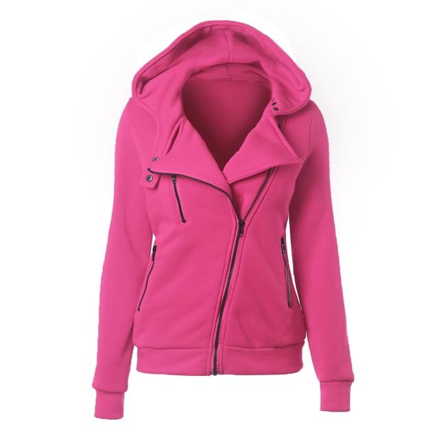 Fashion Winter Zipper Women Outerwear Coats Warm Hoodies Sweatshirts Cardigan Jackets