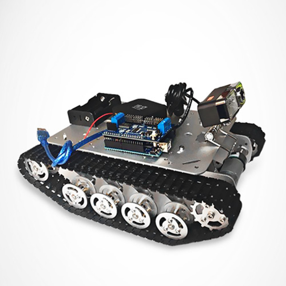 Remote Control Toys Special Section Intelligence Wifi Rc Tank Mount Suspension System Aluminum Alloy Chassis Rc Tank Chassis With Nodemcu Smart Camera Control Panel