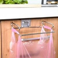 Narzędzi ze stali nierdzewnej uchwyt drzwi hak worek na śmieci worki na śmieci rack wieszak przechowywania Szafka Statywie Akcesoria kuchenne