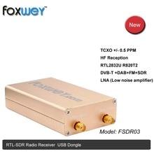 Mới SDR RTL2832U R820T2 HF tiếp nhận 100 K 1.8G TXCO 0.5 TRANG/PHÚT SMA phần mềm định nghĩa đài phát thanh chính xác tần số