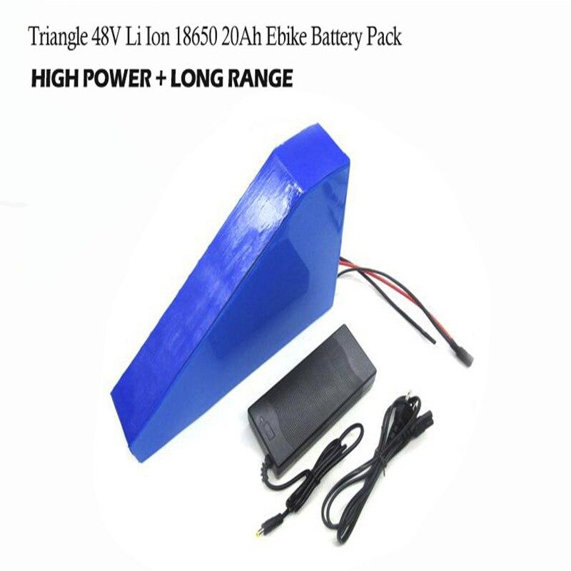48 v 20ah Batterie 48 w 1000 w Triangle Lithiunm Batterie sur VTT Vélo De Route Vélo cadre E Vélo Batterie 48 v pour Vélo Électrique Kit