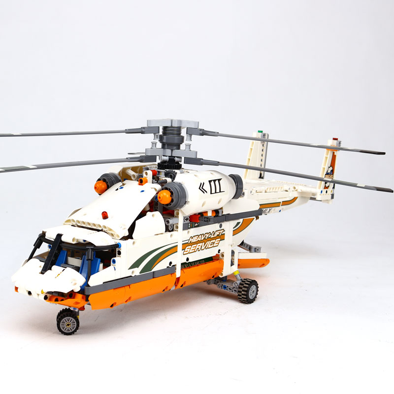 LEPIN  technic series 1060pcs Double rotor transport helicopter Model Building blocks Bricks Compatible LegoINGly 42052 Boy toys compatible with lego technic creative lepin 24011 1344pcs 3 in 1 highway transport building blocks 6753 bricks toys for children