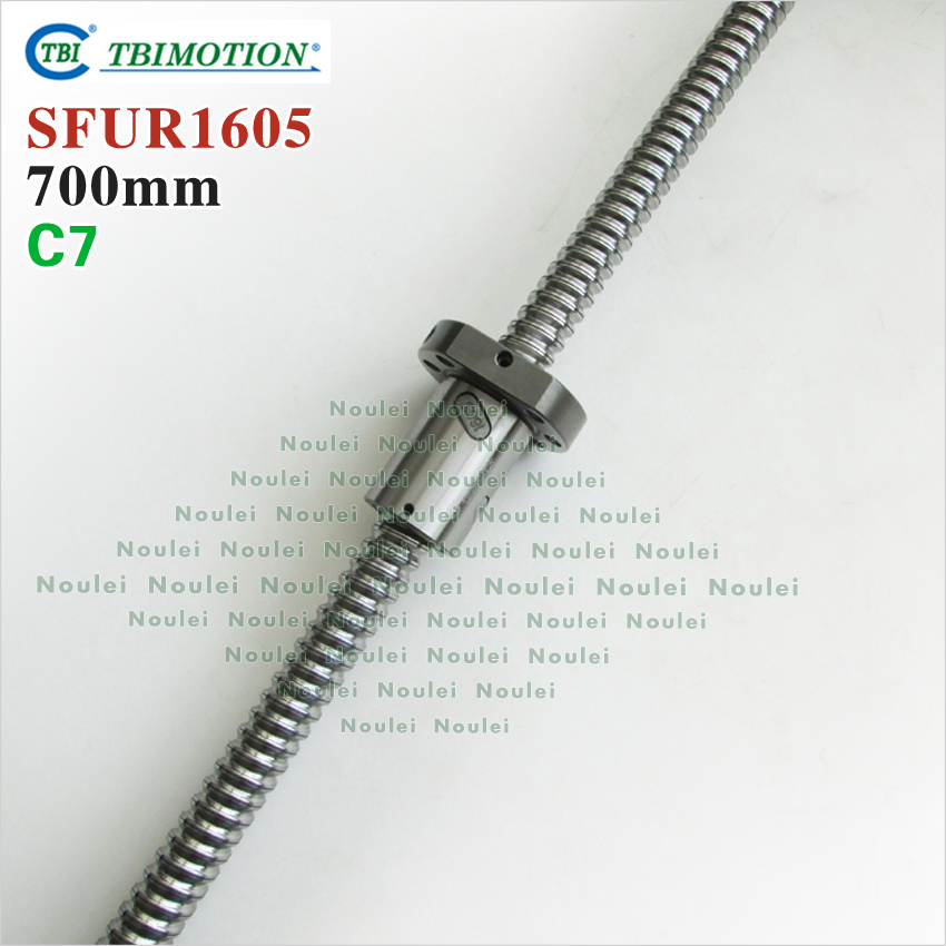 TBI MOTION Ballscrew 1605 700mm  with SFU1605 ballnut  for high stability CNC kit SFU 1605 горелка tbi sb 360 blackesg 3 м