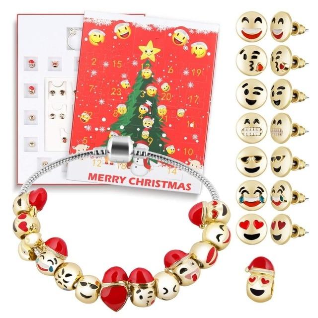 D Fantix Christmas 2018 Women S Diy Jewelry Advent Calendar 24 Days Collection With Bracelet