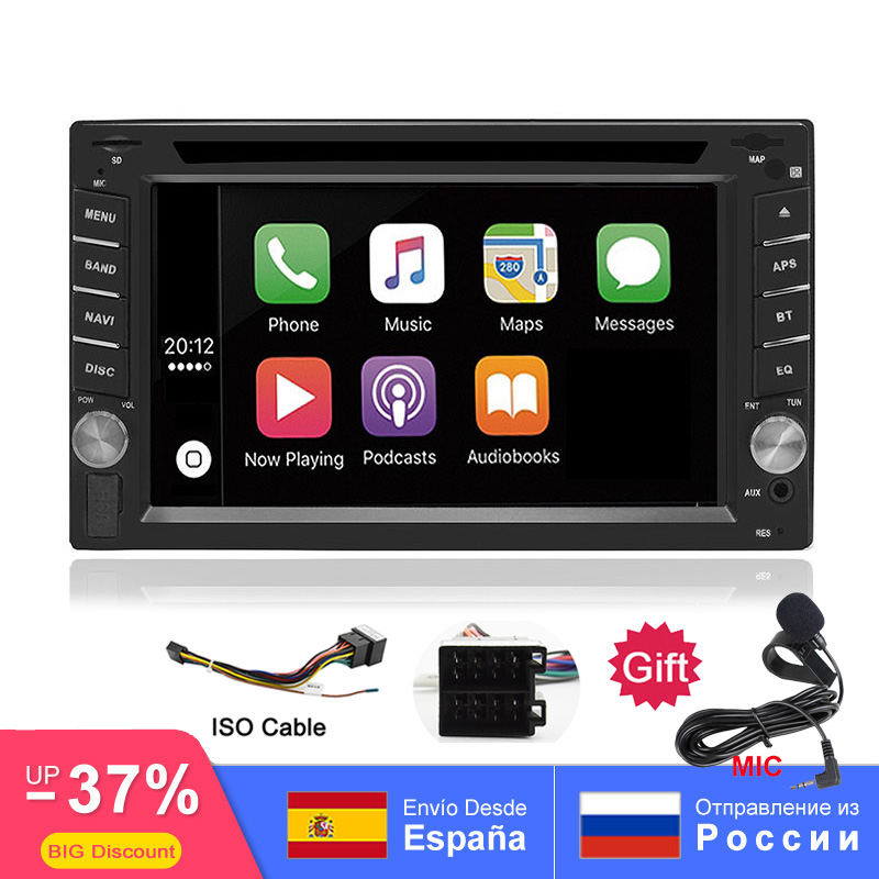 2DIN Car DVD Player Radio GPS Bluetooth Carplay Android Auto for X TRAIL Qashqai x trail juke for nissan SWC FM AM USB/SD-in Car Multimedia Player from Automobiles & Motorcycles
