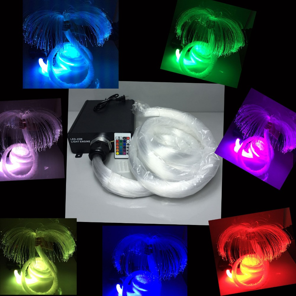 Sparkmate DIY RGB LED Fiber Optic star ceiling light kit 0.75*200pcs+1.0*50pcs+1.5*50pcs optical fiber 16W light source