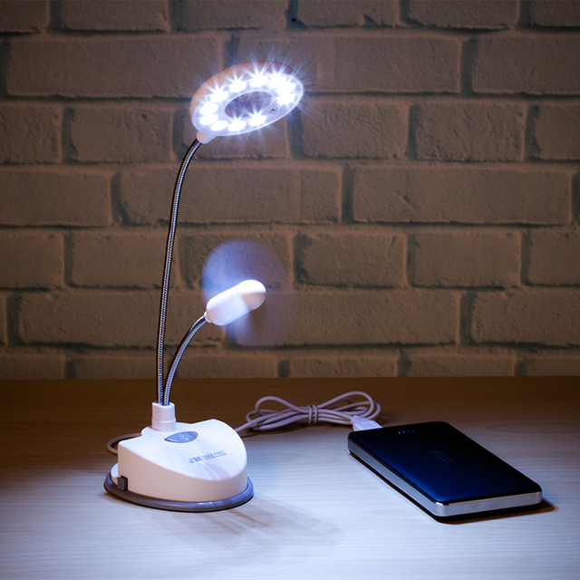 Useful Handy Multifunction Plastic USB LED Lamp