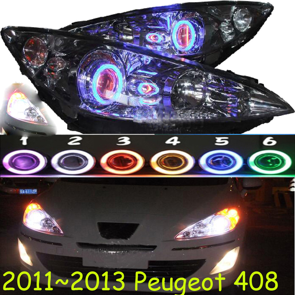 HID,2011~2013,Car Styling for Peugeo 408 Headlight,insight,206 207 308 3008 408 4008 508 Raid RCZ,Partner,408 head lamp