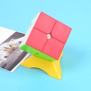 Image 4 - 10 قطعة اللون 2x2 3x3 4x4 مكعب حامل أعلى جودة سرعة ماجيك سرعة مكعب مكعب بلاستيكي قاعدة حامل التعليمية لعب للتعلم