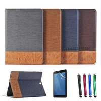 For Samsung Galaxy Tab S3 9 7 Case New Stitching Pattern PU Leather Wallet Cover Case