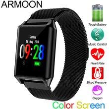 Color Screen Waterproof Smart Watch AK11 Heart Rate Bracelet Blood Pressure Sleep Monitor Fitness Tracker Sport Android IOS Band недорого