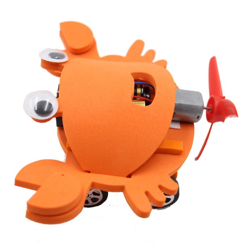 DIY Electric Crab Car Model Assemble Puzzle Kit Educational Toys For Children Outdoor Christmas Gifts