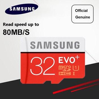 SAMSUNG 80MB/S Memory Card Micro SD Card EVO+ EVO Plus 256GB 128GB 64GB 32GB 16GB Class10 TF Card C10 SDHC/SDXC UHS-1