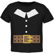 Family T Shirts Halloween Pilgrim Costume Black Toddler MenS 100% Cotton O-Neck Short-Sleeve Tee