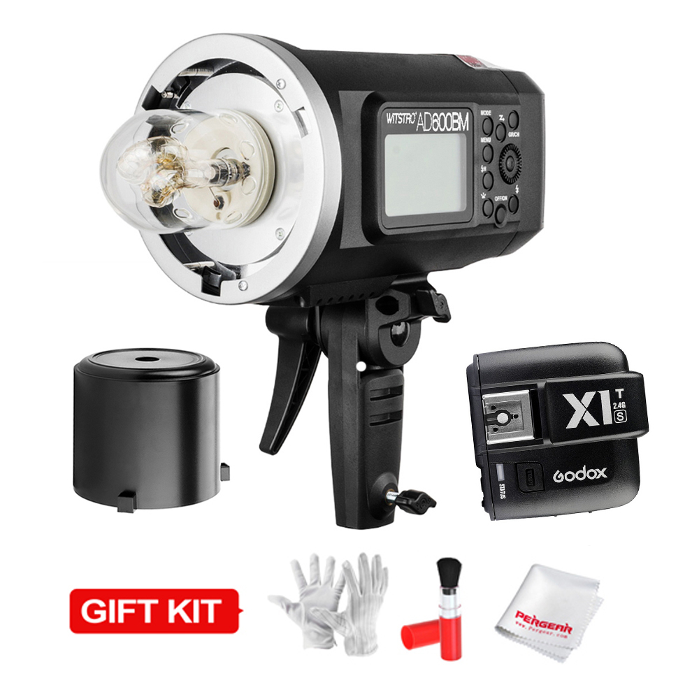 Godox AD600BM HSS 1/8000s 600W GN87 Flash Light (Bowens Mount) w/ Lithium Battery 8700mAh + X1T-S Trigger Transmitter For Sony godox ad600bm bowens mount 600ws gn87 1 8000 hss outdoor flash strobe monolight with x1c wireless trigger 32 x32 softbox stand