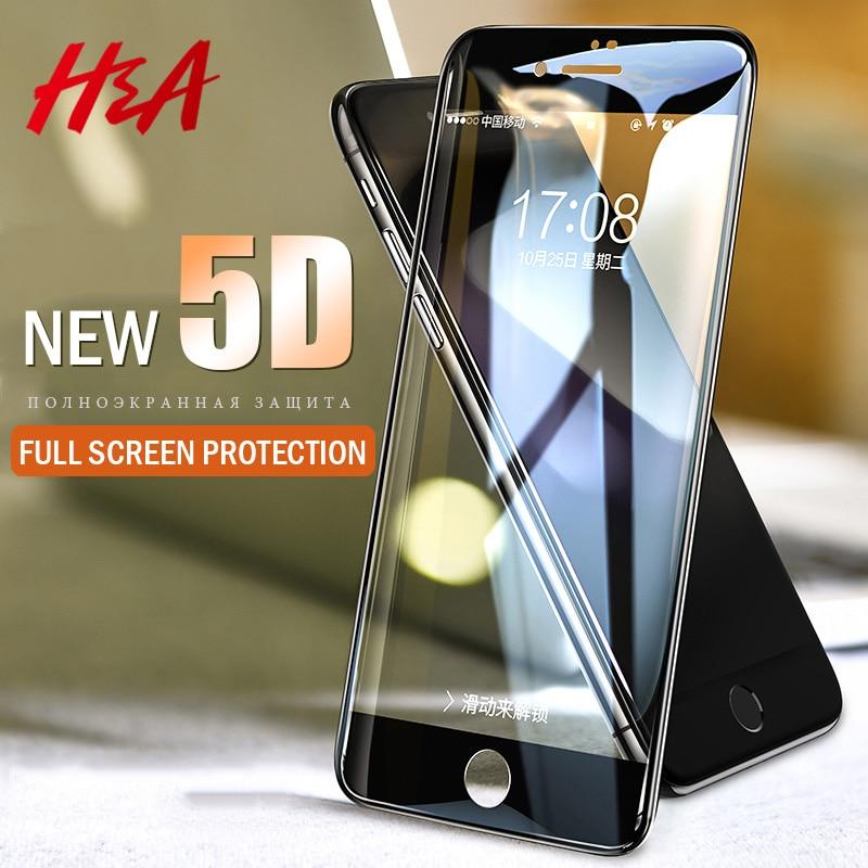 H & 5D полное покрытие край закаленное Стекло для iPhone 7 8 6 Plus Экран протектор для iPhone 6 6s 7 Plus защитная пленка Стекло