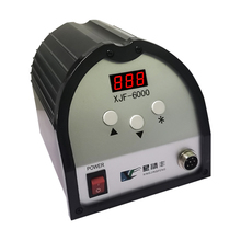 XJF6000 150W DC Digital Lead-free Soldering Station Iron Welding Machinery High Frequency Eddy Current Temperature Adjustable high power ac 220v quick solder stations 90w esd safe lead free digital high frequency eddy rework soldering stations