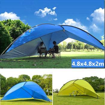 Duża przestrzeń wodoodporny odkryty namiot plażowy Sunshine Shelter wytrzymały poliester namiot przeciwsłoneczny do wędkowania Camping piesze wycieczki piknik Park tanie i dobre opinie SGODDE Namiot dla 3-4 osób Pręt stalowy 1000-1500mm 1500-2000mm