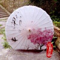 River Boat Spring Oil Paper Umbrella Bamboo art classical Peach Blossom Paper Parasol South China Dance Cosplay Paper Umbrella