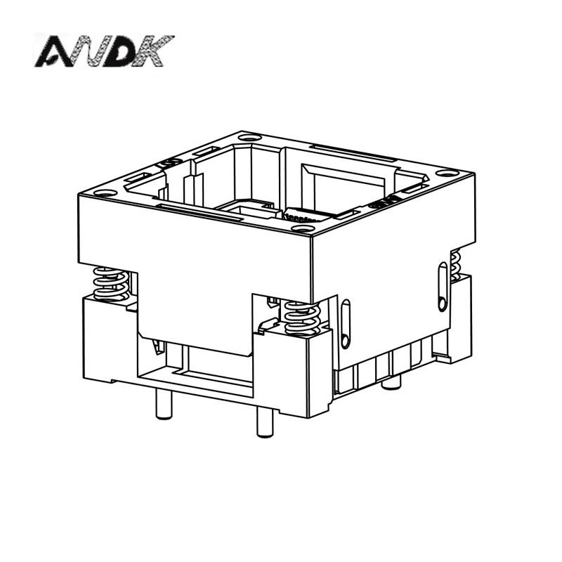 LBGA80 Brûler en Prise IC taille 10*12mm pin pas 1.0mm/LBGA80 IC Test Socket/LBGA80 Adaptateur