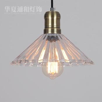 Simple industrial retro glass pendant lights Edison North American style village restaurant living room creative lamp lighting