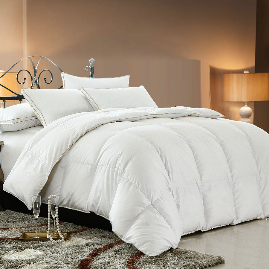 Peter Khanun White Duck Down Spring Autumn Quilt Comforter Duvet Blanket 100 Cotton Shell Twin Full