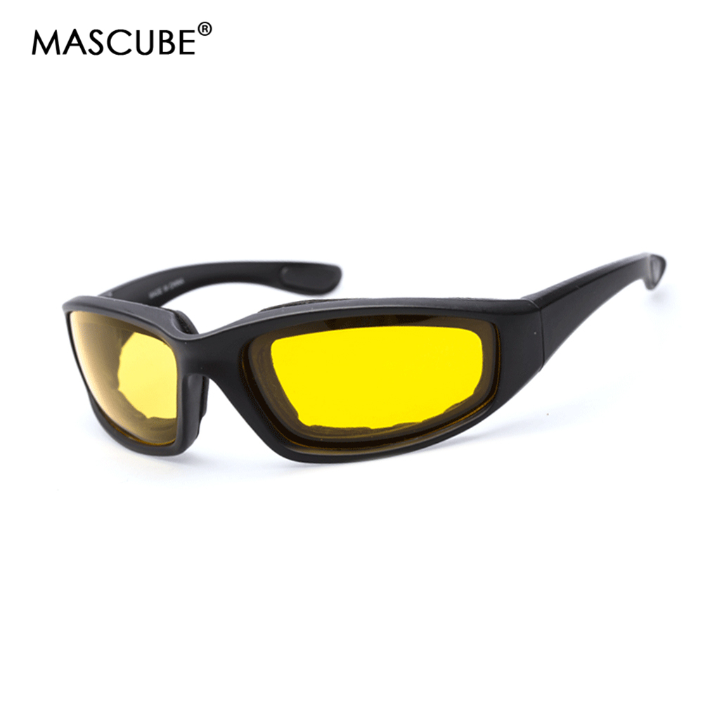 MASCUBE Motorcycle Bike Protective Glasses Windproof Driving Night Vision Cycling Goggles Eyeglasses Outdoor Sports EyewearMASCUBE Motorcycle Bike Protective Glasses Windproof Driving Night Vision Cycling Goggles Eyeglasses Outdoor Sports Eyewear