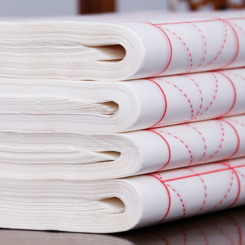 100 200sheets Xuan Paper Chinese Calligraphy Papel Arroz Caligraphie Rice Paper Calligraphy Writing Semi Raw Calligraphy Paper