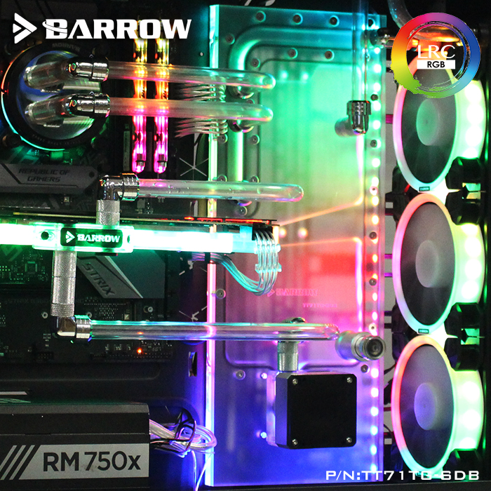Barrow TT71TG-SDB, Waterway Boards For TT View 71 TG/TG RGB Case, For Intel CPU Water Block & Single/Double GPU Building цена и фото