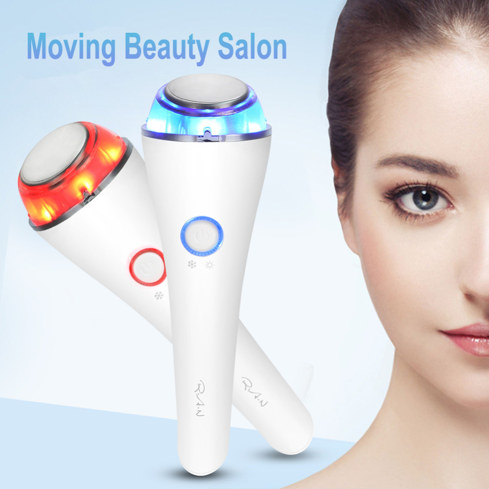 Photon Light Therapy Hot & Cold Vibration Face Eye Massager Anti-Ageing Wrinkle Lifting Skin Rejuvenation Wrinkle Remover Device electric vibration eye face massager small anti ageing wrinkle lifting device