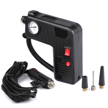 Black Tire Inflator Pump DC 12V Multi function Portable Electric Auto Pump For Cars Bicycles Pumps Pointer Display