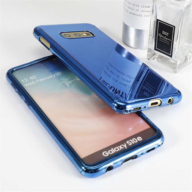 For Samsung Galaxy S10 Case plating Full Body Protective Full Coverage Soft Screen Protector S10e S10plus Note9 Cover in Fitted Cases from Cellphones Telecommunications