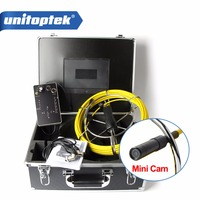 20M Cable Fiber Glass Waterproof Mini Size Pipe Sewer Inspection Camera With DVR Recording 1000TVL 6