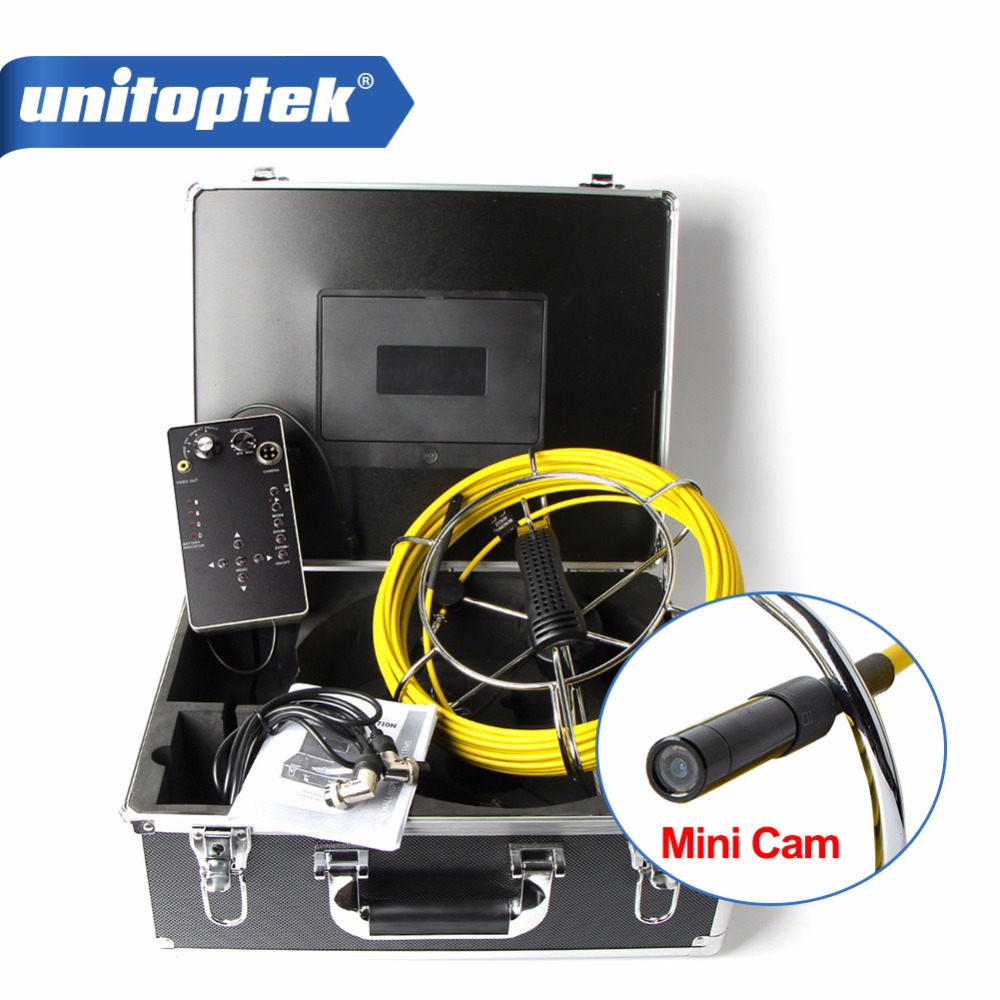 20M Cable Fiber Glass Waterproof Mini Size Pipe Sewer Inspection Camera With DVR Recording 1000TVL 6 Leds Endoscope Snake Camera eyoyo 7 lcd screen 20m 800 480 1000tvl 4500mah sewer drain camera pipe wall inspection endoscope w keyboard dvr recording 8gb