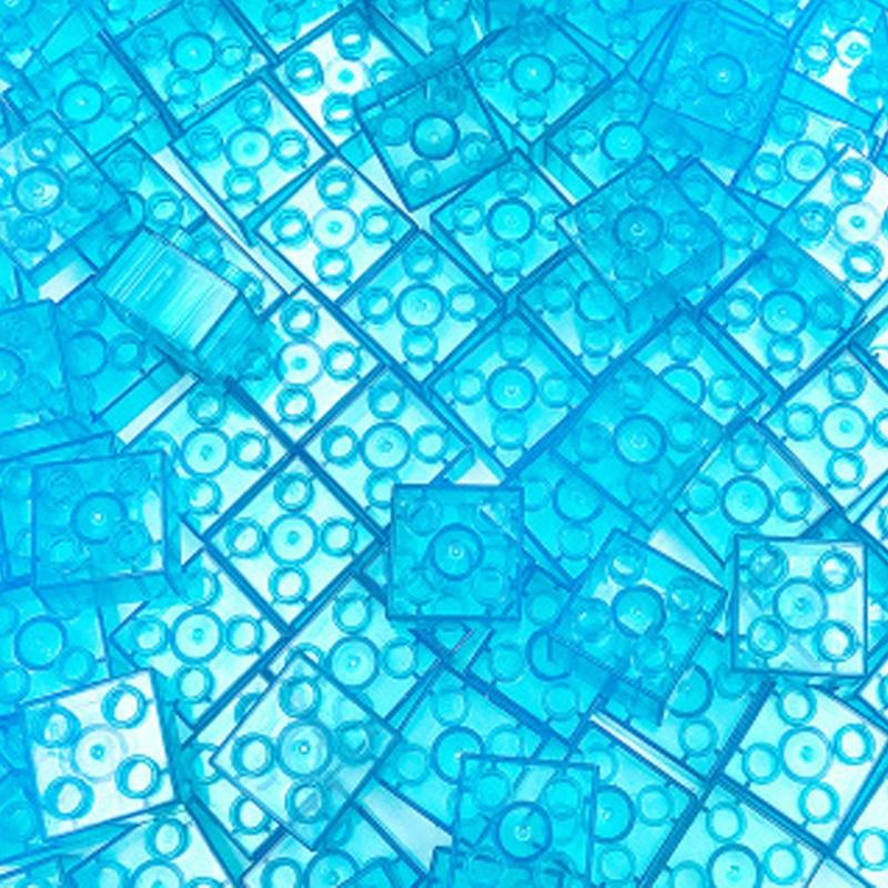 100pcs Four Holes Transparent Color Building Blocks Accessories  Compatible Legoingly Duploe Block100pcs Four Holes Transparent Color Building Blocks Accessories  Compatible Legoingly Duploe Block