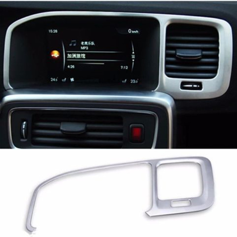 Stainless Steel Car Instrument Panel Decal Cover Trim For Volvo XC60 S60 V60