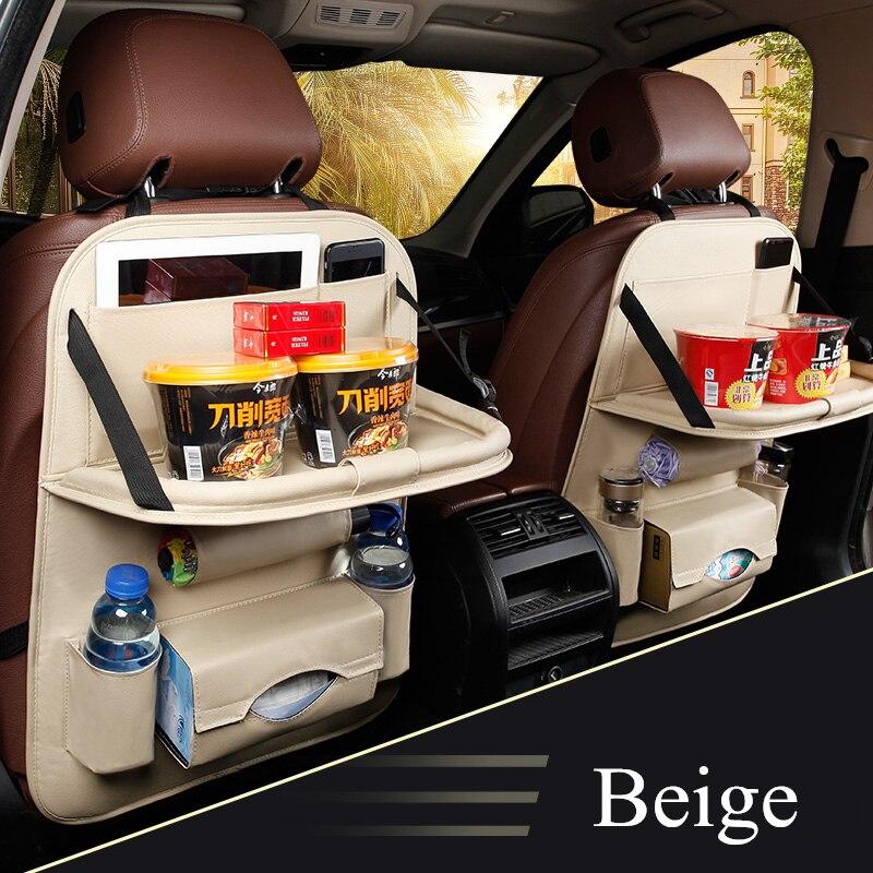 Universal Car Seat Back Bag Folding Organizer Bags Pad Drink Storage Pocket Hot