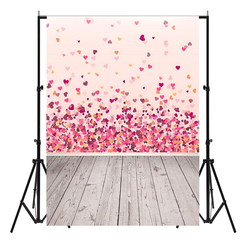 150X90cm Pink Valentine's Day Vinyl Studio Backdrop Love Theme Photography Background Cloth Photo Props Wedding Party Favor shengyongbao 300cm 200cm vinyl custom photography backdrops brick wall theme photo studio props photography background brw 12