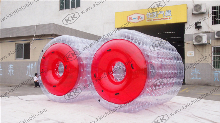 Commercial Grade CE Inflatable Water Walking Roller Ball / Inflatable Zorb Ball funny summer inflatable water games inflatable bounce water slide with stairs and blowers