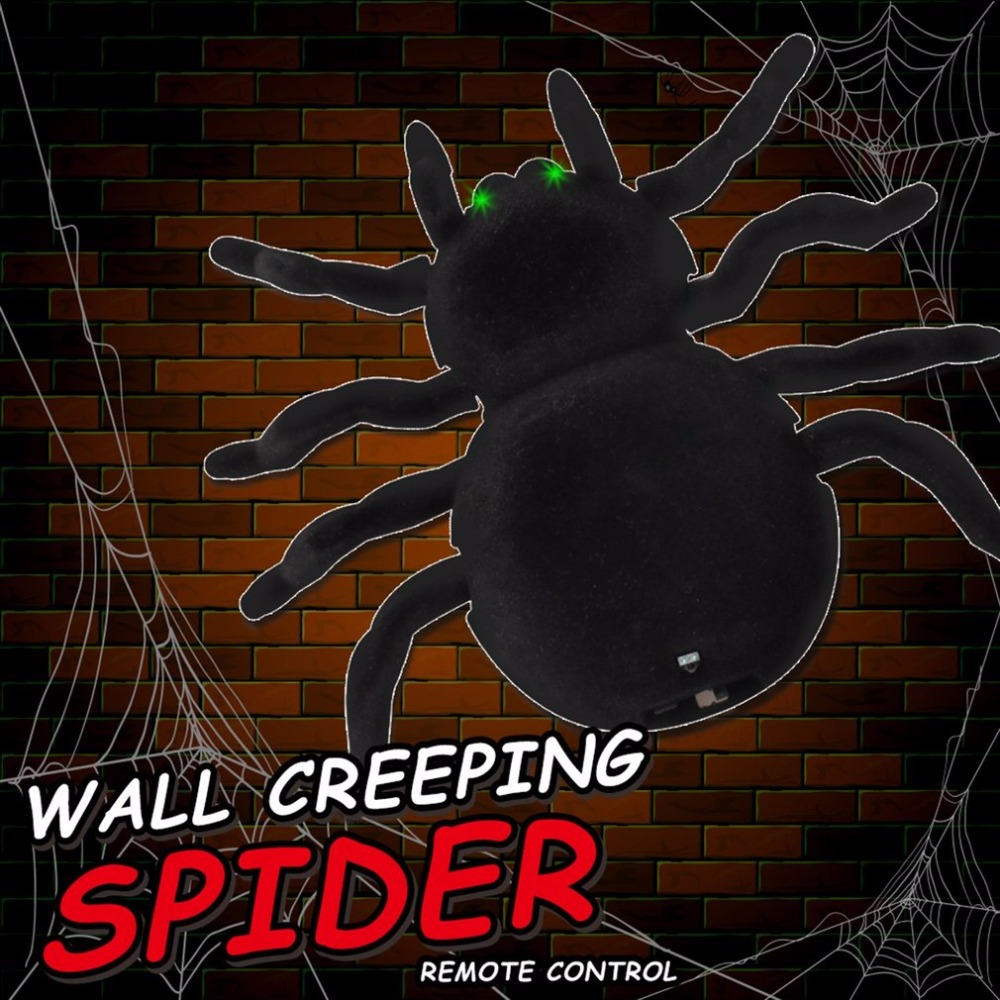 Electronic Halloween Decorations: Radio Control Simulation Furry Electronic Spider Scary