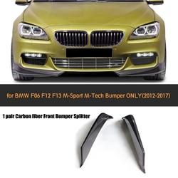 6 serii Carbon fibre splitter przedniego zderzaka fartuch dla BMW F06 F12 F13 M Sport 2012-2016 cabrio 650I Non M6