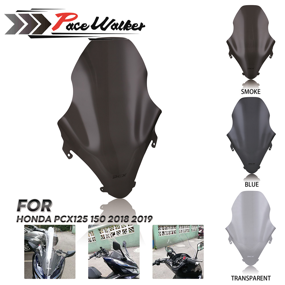 Hight Quality Motorcycle Smoke Transparent ABS Windshield Windscreen For Honda pcx 125 PCX125 150 2018 2019