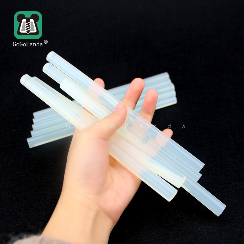 Free Shipping(10PCS/Lot) Non-Toxic  11mm X190mm Adhesive Craft Sticks Hot Melt Glue Sticks Translucent Black