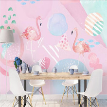HD Simple Modern Plant Animal Pink Fresh Background Wall