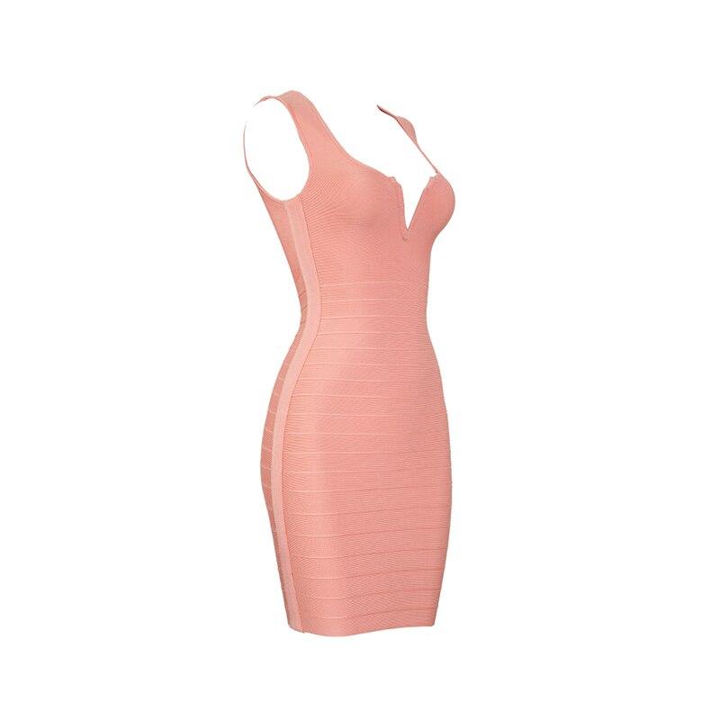 rote koralle 2018 frauen tiefem neue big korallen v ausschnitt party promi bandage sleeveless mode dress sexy mini TFK1Jcl
