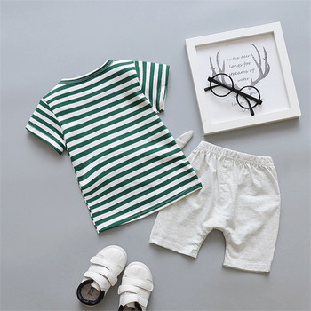 Newborn Cartoon Striped Clothes Suit for Baby Boys 2Pcs 2